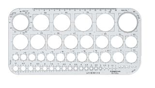 STAEDTLER MARS CIRCLE TEMPLATE 576 1-36MM
