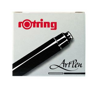 ROTRING ART PEN INK CARTRIDGE BLACK PKT6