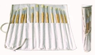BRISTLE BRUSH SET 18 PC ROUNDSAND FLATS