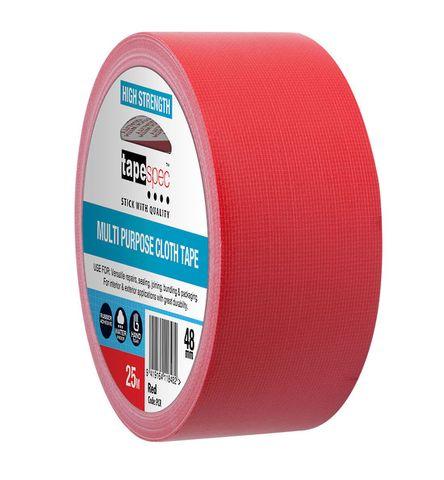 MULTI PURPOSE CLOTH TAPE 24MM X 25M RED
