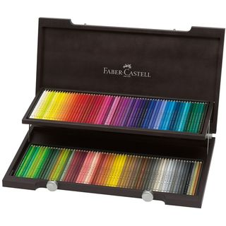 FABER POLYCHROMOS WOODEN BOX SET 120