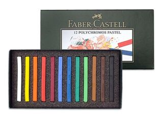FABER POLYCHROMOS PASTEL SET 12 ASSORTED COLOURS