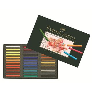 FABER POLYCHROMOS PASTEL SET 36 ASSORTED COLOURS