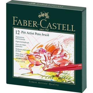 FABER PITT ARTIST BRUSH PEN STUDIO BOX 12