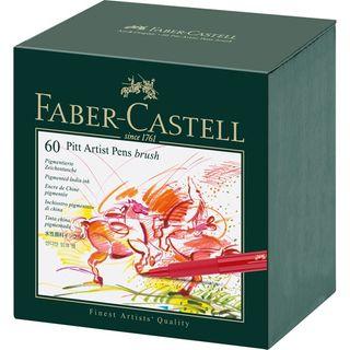 FABER PITT ARTIST BRUSH PEN STUDIO BOX 60