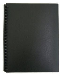 FM REFILLABLE DISPLAY BOOK A4 20PK BLK