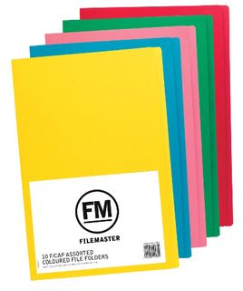 FM FOLDERS ASSORTED COLOR FOOLSCAP PKT10