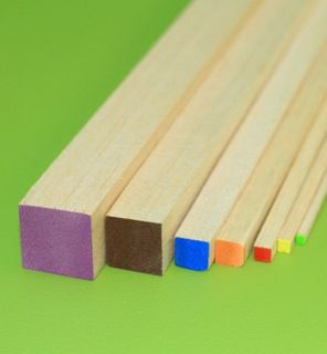 GH BALSA WOOD SQUARE 25 X 25 X 915MM