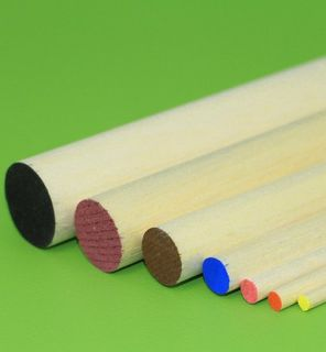 GH BALSA WOOD ROUND 25 X 915MM