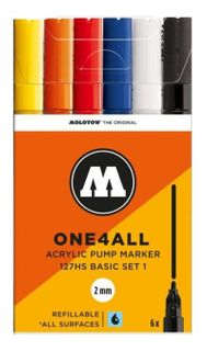 MOLOTOW ONE4ALL 2MM 127HS SET 6 BASIC#1