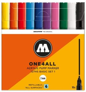 MOLOTOW ONE4ALL 2MM 127HS SET 10 BASIC#1