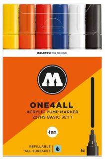 MOLOTOW ONE4ALL 4MM 227HS SET 6 BASIC#1