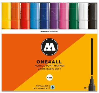 MOLOTOW ONE4ALL 4MM 227HS SET 10 BASIC#1