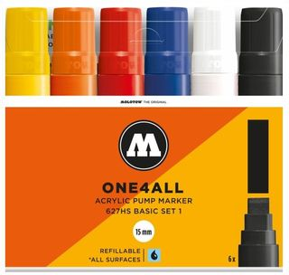 MOLOTOW ONE4ALL 15MM 227HS SET 6 BASIC#1