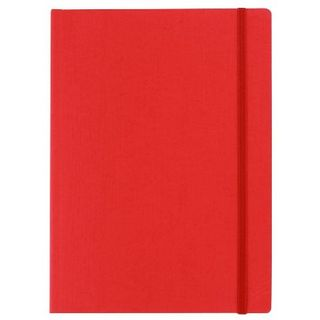 FABRIANO ECOQUA NOTEBOOK PLAIN A5 RED