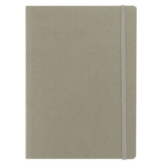 FABRIANO ECOQUA NOTEBOOK PLAIN A5 GREY