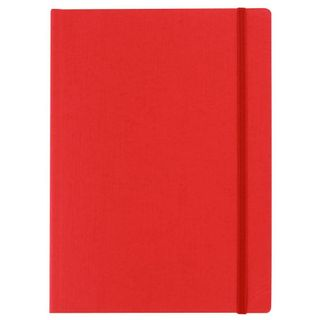 FABRIANO ECOQUA NOTEBOOK PLAIN A6 RED