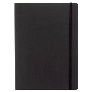 FABRIANO ECOQUA NOTEBOOK PLAIN A6 BLACK