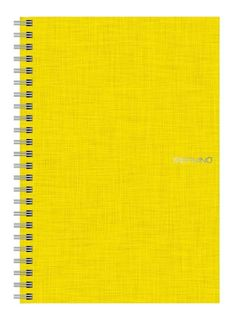 FABRIANO ECOQUA SPIRAL A5 LINED YELLOW