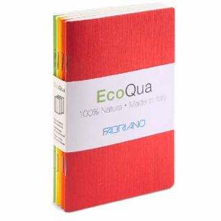 FABRIANO ECOQUA POCKETBOOK PLAIN 4 X BRIGHTS