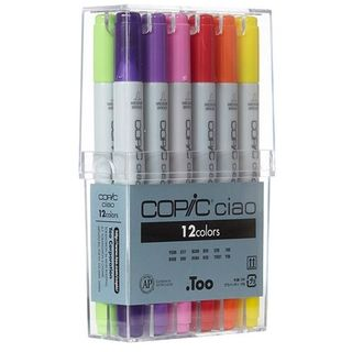 COPIC CIAO MARKER SET 12 ASSORTED