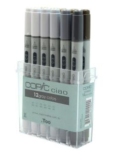 COPIC CIAO MARKER SET 12 GRAY