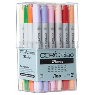 COPIC CIAO MARKER SET 24 ASSORTED