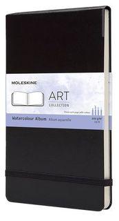 MOLESKINE FOLIO A4 BLACK WATERCOLOUR