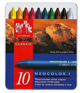 NEOCOLOR I WAX CRAYON TIN SET 10
