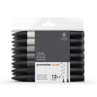 W&N BRUSHMARKER SET 12 GREYS