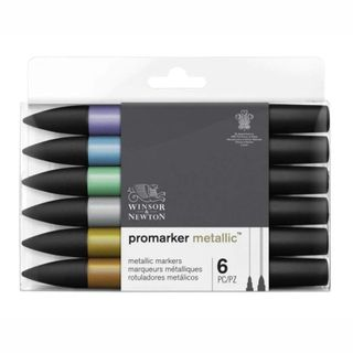 W&N METALLICMARKER SET 6
