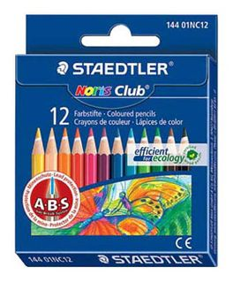 STAEDTLER NORIS CLUB COLOUR PENCILS 12 HALF LENGTH