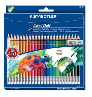 STAEDTLER NORIS CLUB ERASABLE COLOUR PENCIL PKT 24