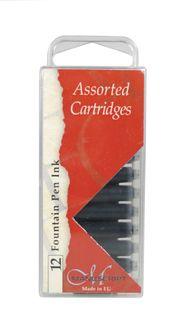 MANUSCRIPT INK CARTRIDGE PKT 12 BLACK
