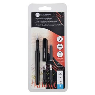 MANUSCRIPT BEGINNER CALLIGRAPHY 3 NIB SET LEFTHAND
