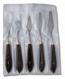ITALIAN STYLE PALETTE KNIFE SET OF 5