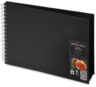 FABRIANO BLACK BOOK 190G A5 LANDSCAPE