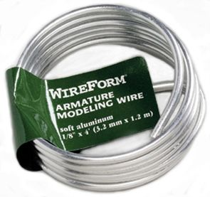 WIREFORM ARMATURE WIRE ROLLED 3MM-1/8