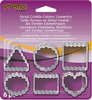 PREMO SCULPEY METAL CUTTERS CRINKLE 6PC