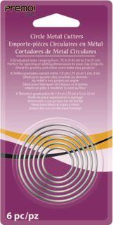 PREMO SCULPEY METAL CUTTERS CIRCLE 6PC