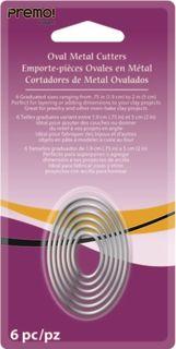 PREMO SCULPEY METAL CUTTERS OVAL 6PC