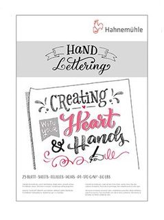 HAHN HAND LETTERING PAD 170G 25 SHT A4