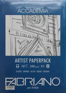 FABRIANO ACCADEMIA DRAWING PAPER 200G A3 PACK 50