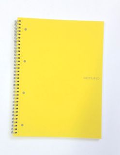 FABRIANO ECOQUA SPIRAL A4 GRID PERFORATED YELLOW