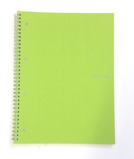 FABRIANO ECOQUA SPIRAL A4 GRID PERFORATED LIME