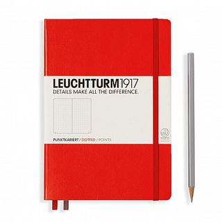 LEUCHTTURM1917 NOTEBOOK MED DOTTED RED