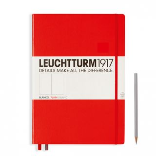 LEUCHTTURM1917 NOTEBOOK LARGE PLAIN RED