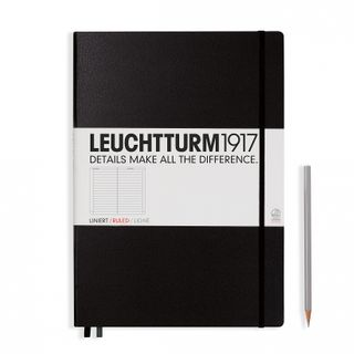 LEUCHTTURM1917 NOTEBOOK LARGE LINED BLK
