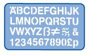 HELIX H99X10 STENCIL 50MM UPPER CASE SET