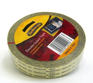 SELLOTAPE DOUBLE SIDED TAPE 24MM X 33M